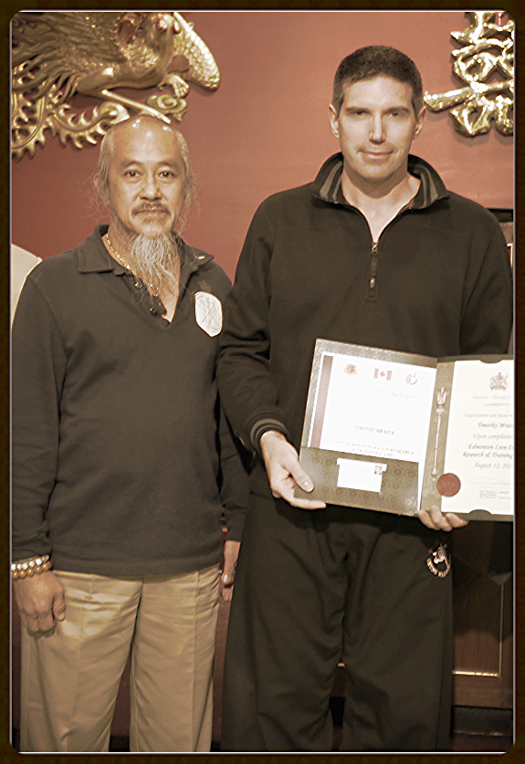 Master H.P. Siow & Canadian student