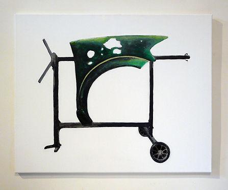 PARENTHÈSE VERTE - acrylique sur toile  - Mathieu Le Breton © 2021