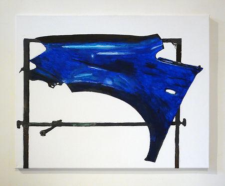 PARENTHÈSE BLEUE - acrylique sur toile  - Mathieu Le Breton © 2021
