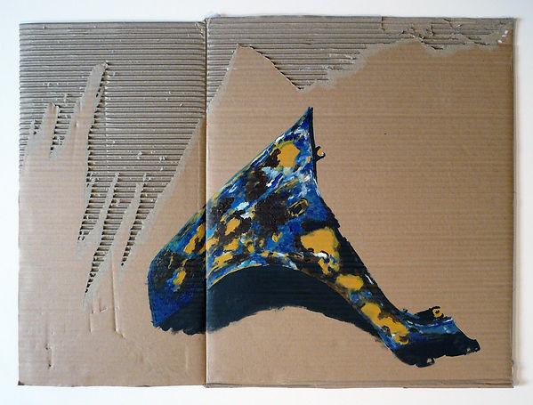 ÉTUDE DE CARROSSERIE - acrylique sur carton  - Mathieu Le Breton © 2021