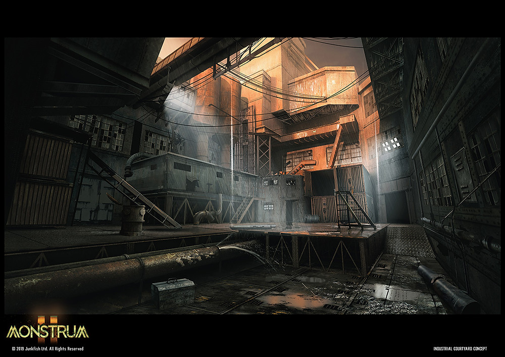 Industrial Courtyard Concept