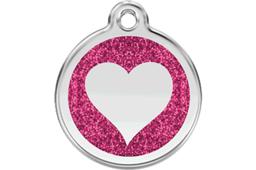 "Pink! Engraved! ""I love My Favorite Groomer"" Key Chain Dog Tag"