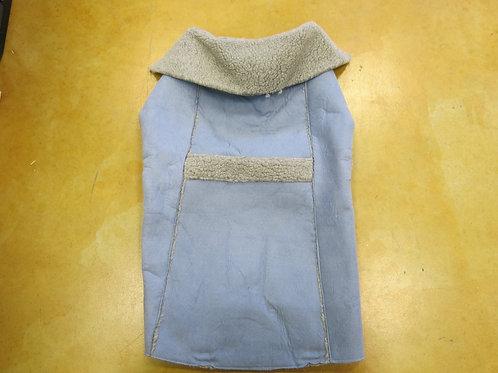 Faux Suede Blue Coat