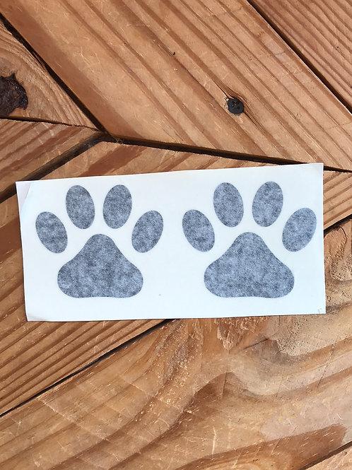 Black Paw Print Sticker (1)