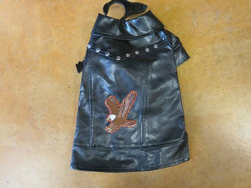 Medium Eagle Emblem Black Biker Vest