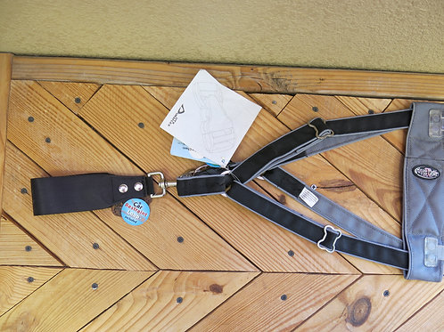 Large Big Breed Black Step in Harness (one)