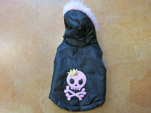 Small Black and Pink Skull Crossbone Jacket