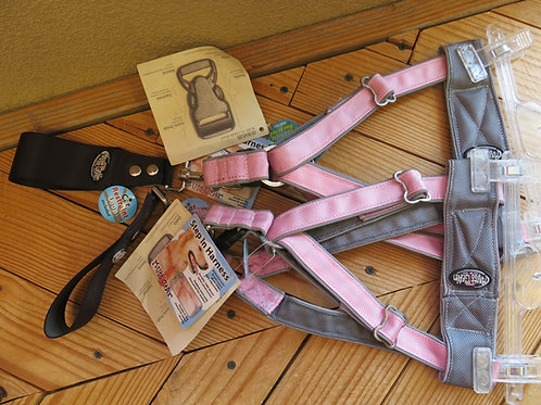 Medium Big Breed Pink Step in Harness (one)