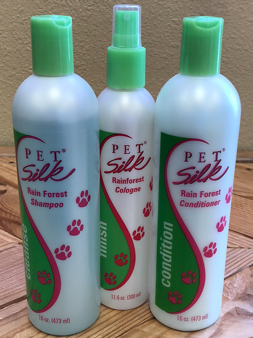 Pet Silk Rainforest TRIO Kit 16 oz - PETSILK