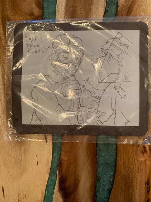 Dede Comic Art - Limited Edition - Flea Chemical Mask