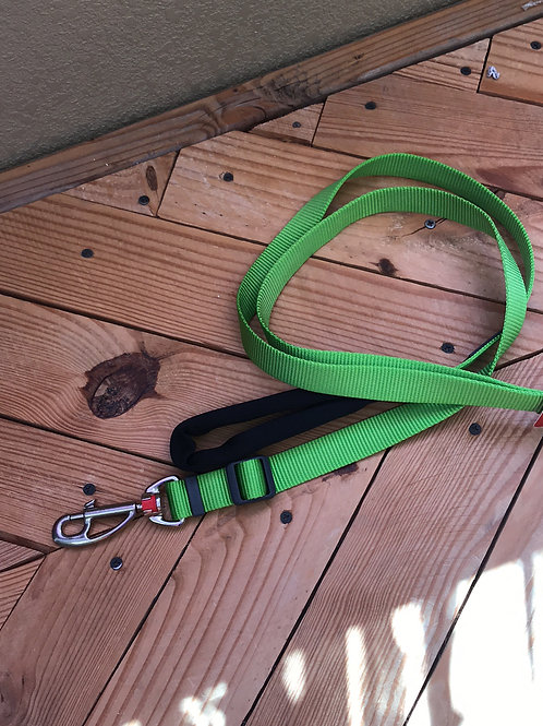 Green 6 foot lead leash