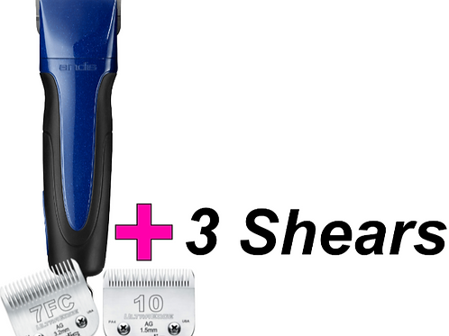 Andis 5 speed Kit plus 3 shears