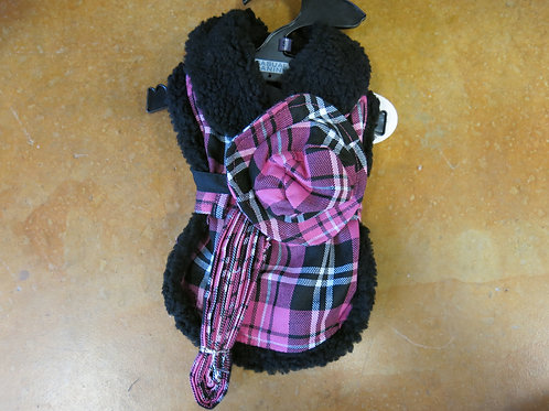 Small Plaid Coat and leash and hat
