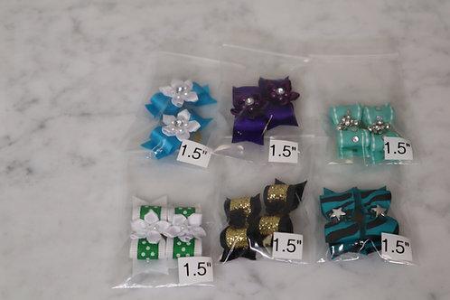 "Handmade Bows Set of 2 - Small 1.5"""