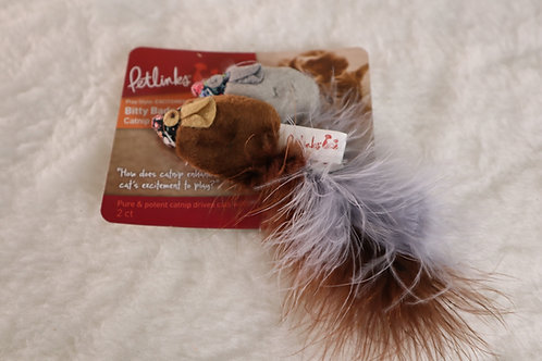 Bitty Badgers Toy with Feather