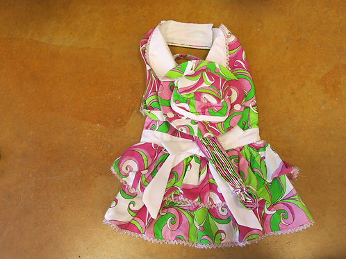 USA Made Large Swirly Dress Leash and Hat