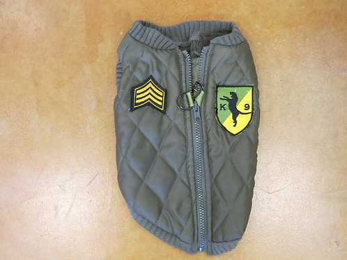 Medium Green only Military Style Zipper Jacket