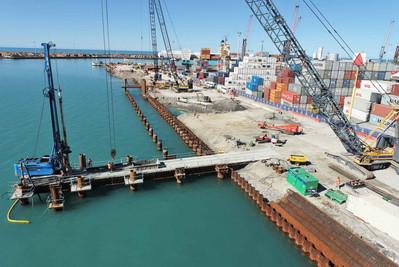 Napier Port 6 Wharf - HEB Construction 1