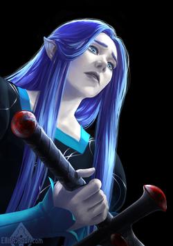 Aliasse with Amarandol's sword