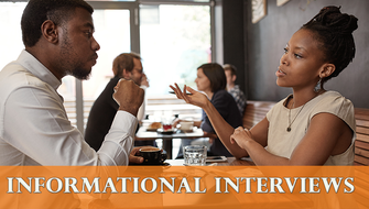 What are informational interviews?