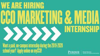 Purdue CCO Marketing & Media Internship
