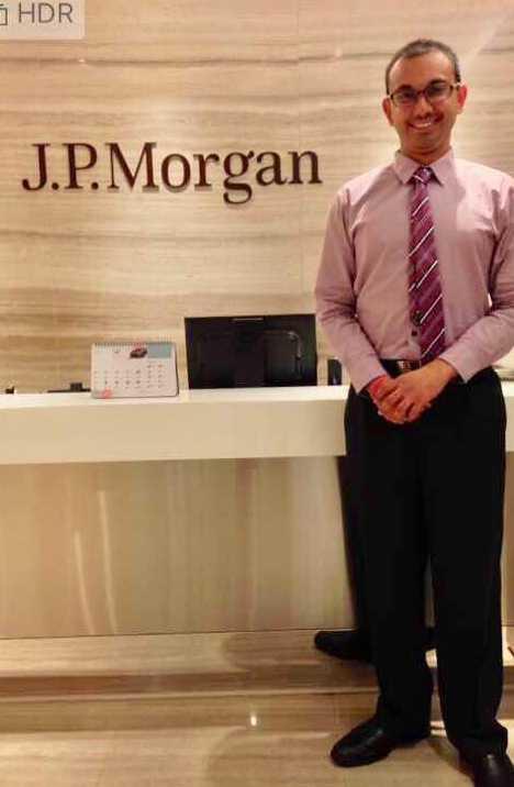 Purdue student interns at J.P. Morgan