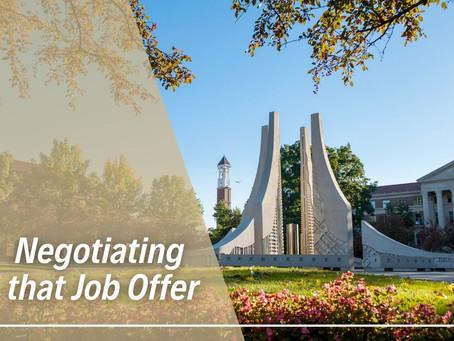 Negotiating that Job Offer