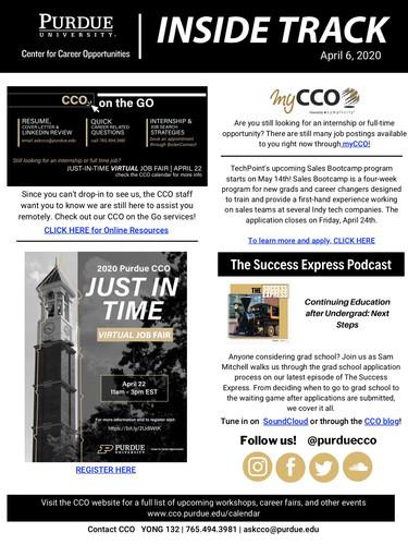 CCO Inside Track April 6, 2020