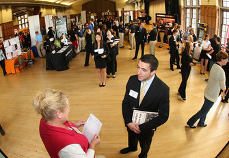 Make an impression at your first career fair