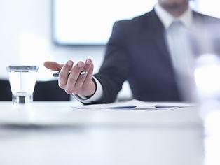 Business meeting with a development finance broker