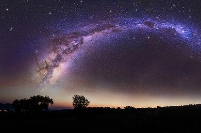 beautiful night sky and milkway backgrou