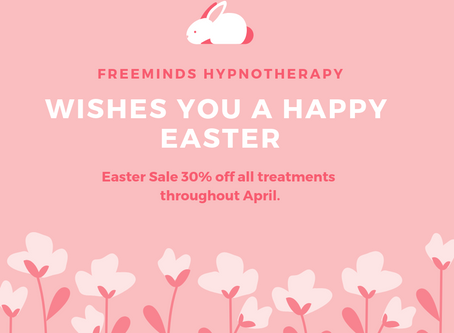Easter Treat 30% off throughout April