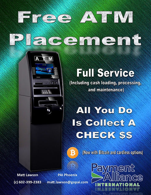 ATM AZ Arizona Cochise Maricopa Placement Bitcoin