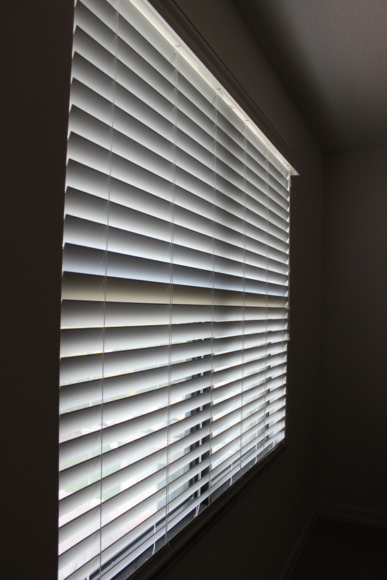 Recent Projects: Faux Wood Blinds