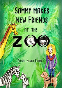 book cover for Sammy Makes New Friends at the Zoo