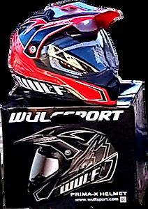 Crash helmet with visor