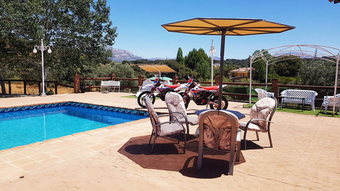 Bikes by the pool