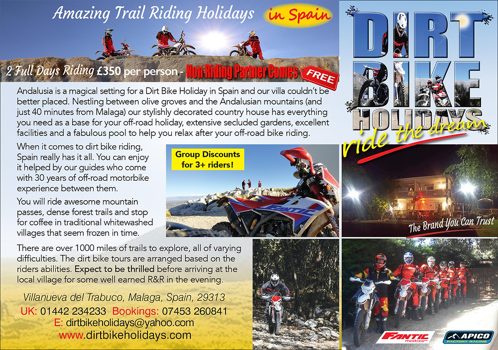 Motorcycle Trail Riding Holidays In Spain