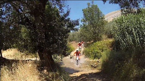 The Three Amigos trail riding at dirt bike holidays