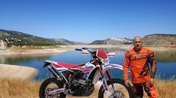 Paul and bike at the lake