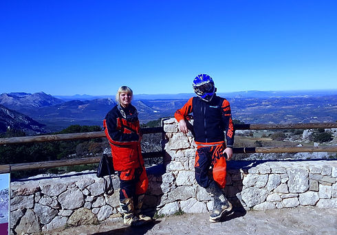 The Viewing point at dirt bike holidays Spain