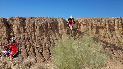 Riders trail riding at dirt bike holidays