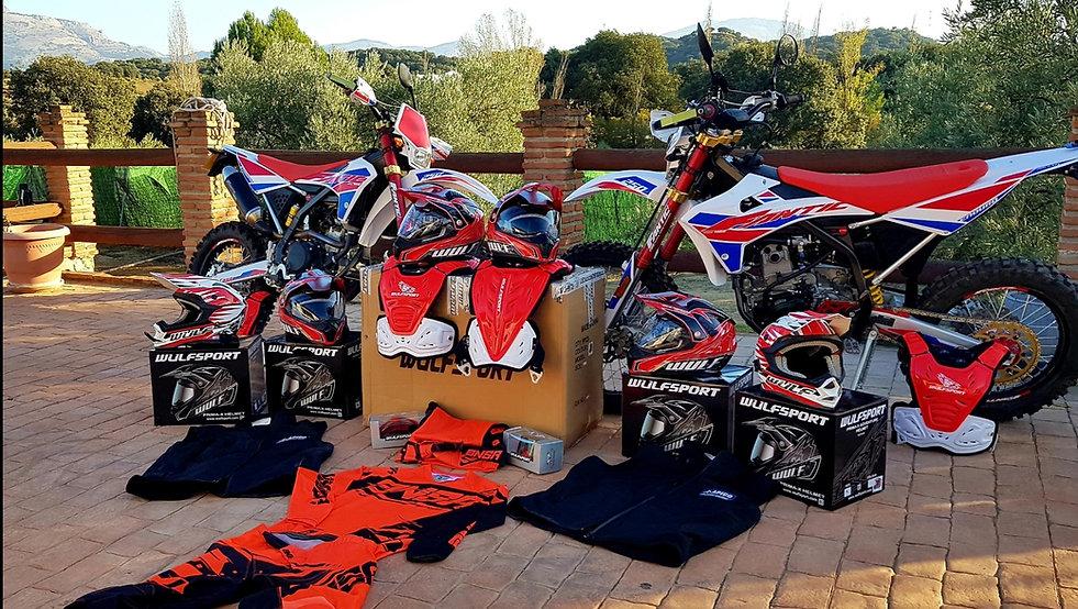 Fantic Casa 250e Enduro Bike and wulfsport riding kit