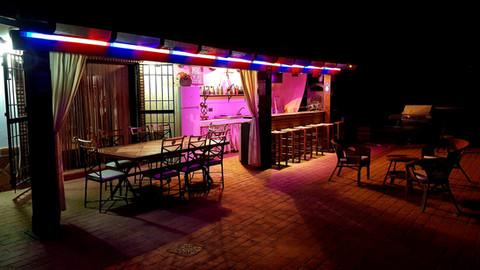 pool bar after dark