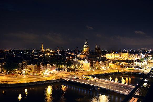Amsterdam Skyline at Night