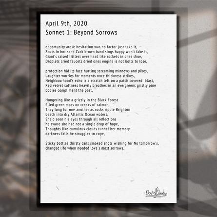 Sonnet. 1. Beyond Sorrows.