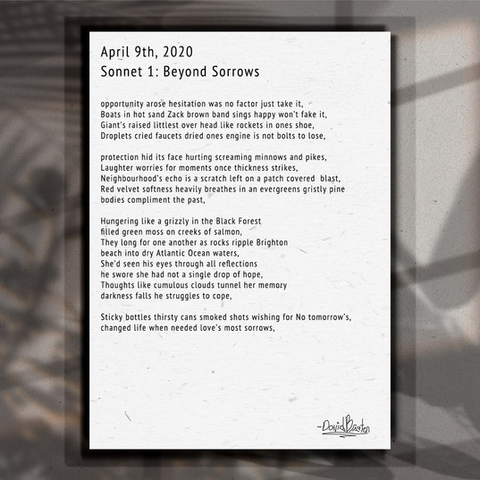 Sonnet. 1. Beyond Sorrows.