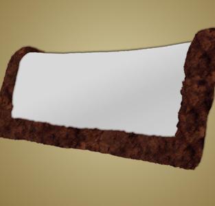 #4282/84/86 - Saddle Pad, Western Sheepskin Only, Rolled Edges