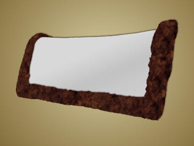 #4282/84/86 - Saddle Pad, Western Sheepskin Only, Rolled Edges