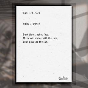 Haiku. 1. Dance.